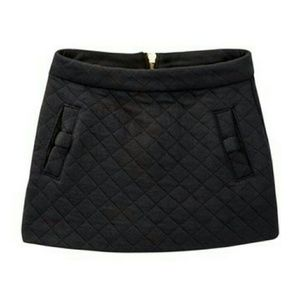 Kate Spade girls quilted mini skirt